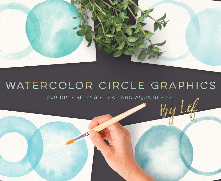 Watercolor-Circles-Teal-and-Aqua-first-image
