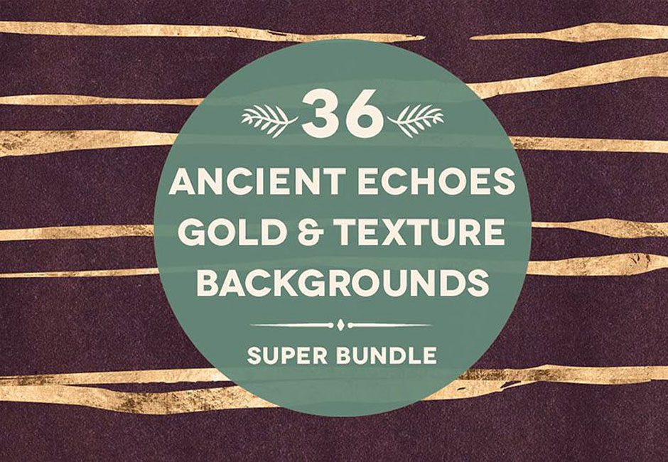 36 Ancient Echoes Weathered Textures Gold Bundle