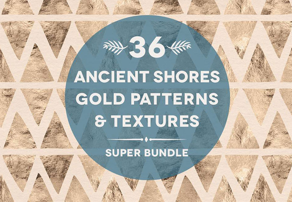 36 Ancient Shores Gold & Watercolors