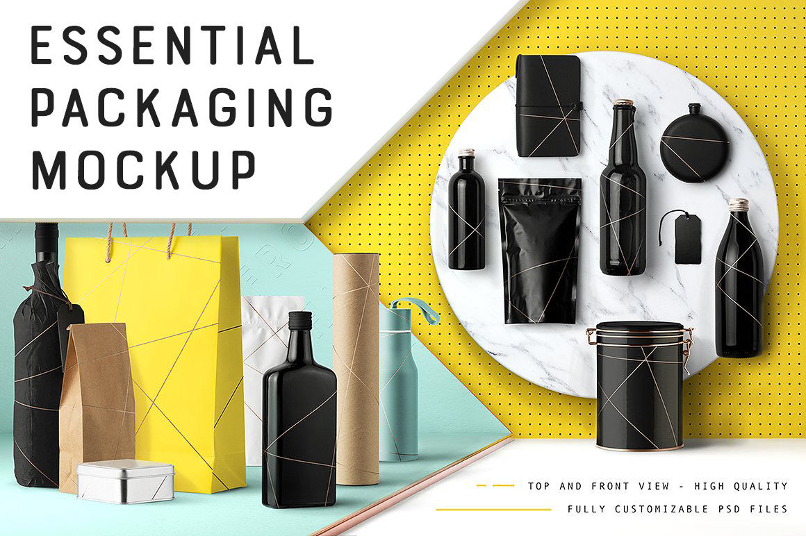 Essential Packaging & Branding Mockup