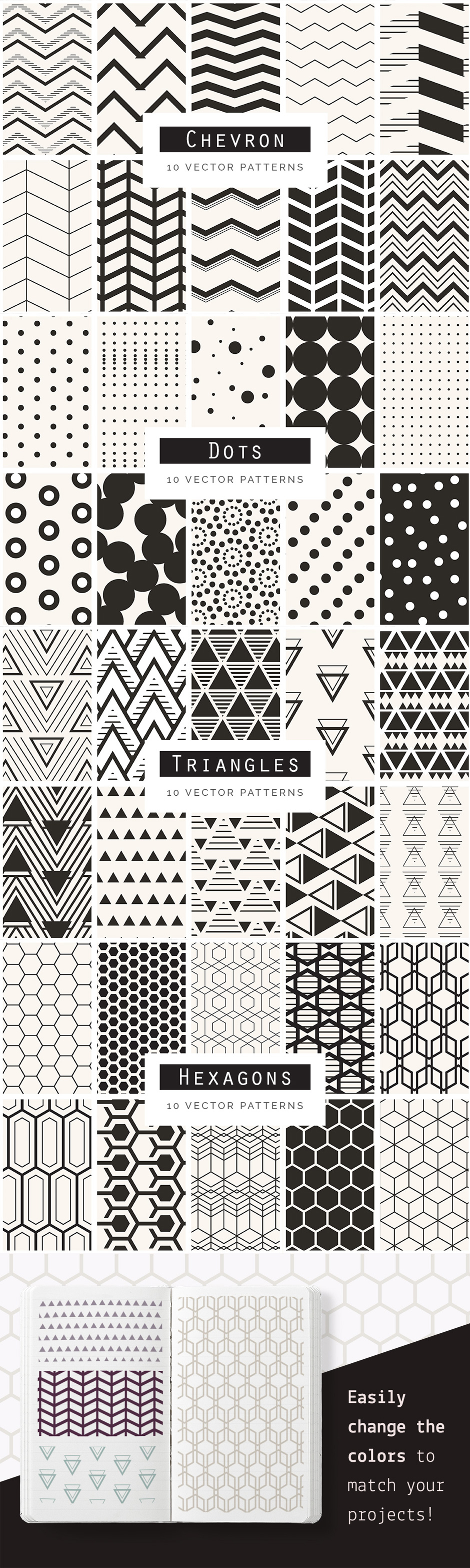 …Geometric Seamless Patterns Bundle Vol. 1