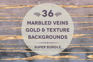 36 Marbled Veins Gold Textures