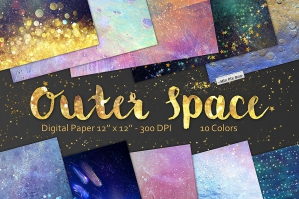 Outer Space Digital Paper