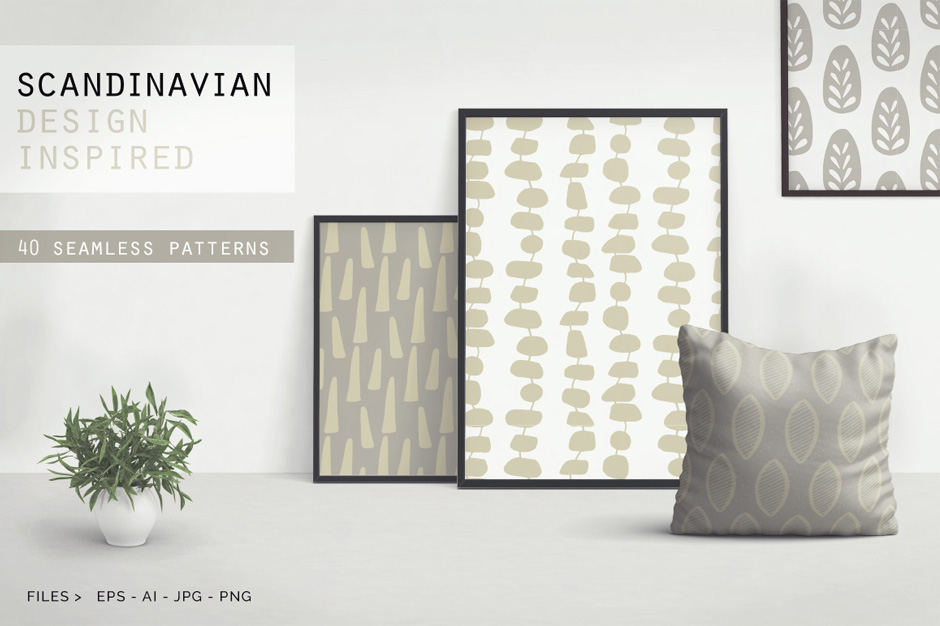 Scandinavian Patterns Set of 40