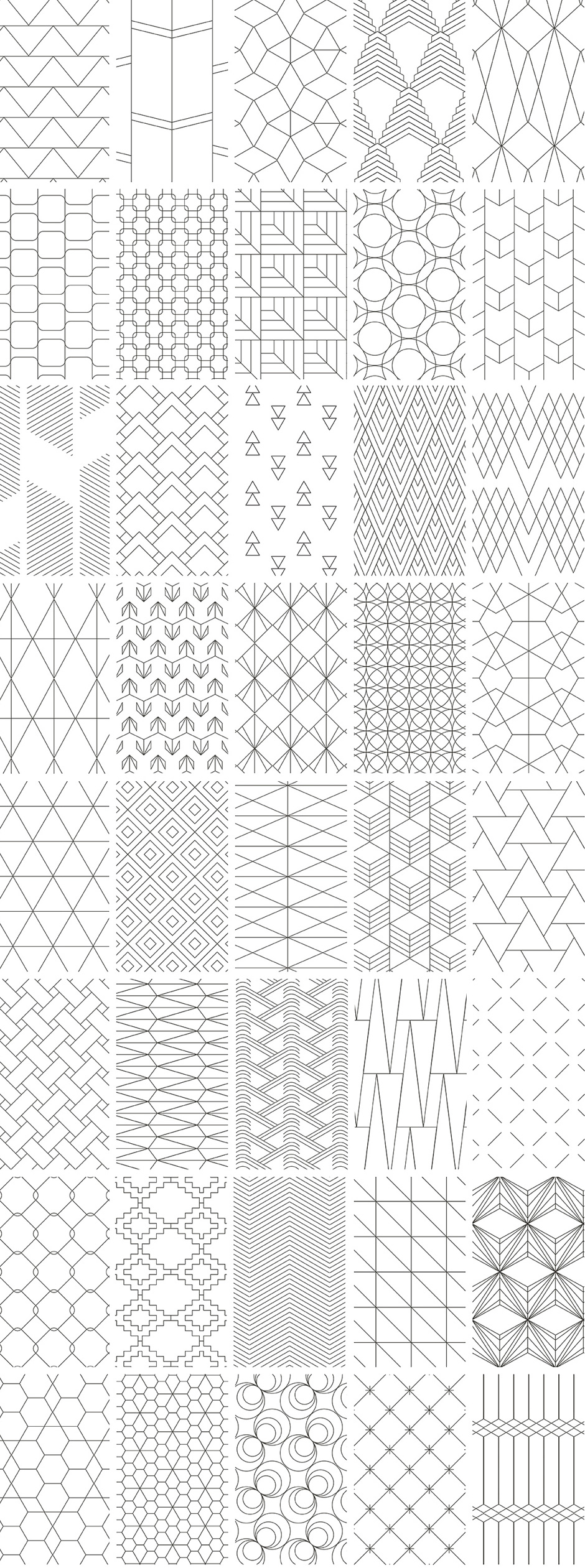 Simple Line Geometric Patterns - Design Cuts Design Cuts
