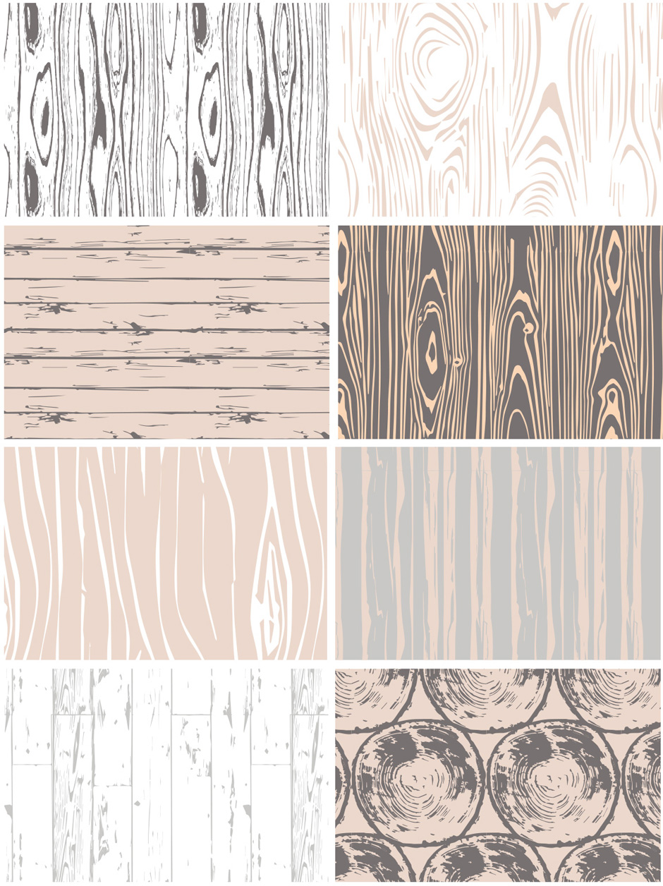 Seamless Vector Woodgrain Patterns