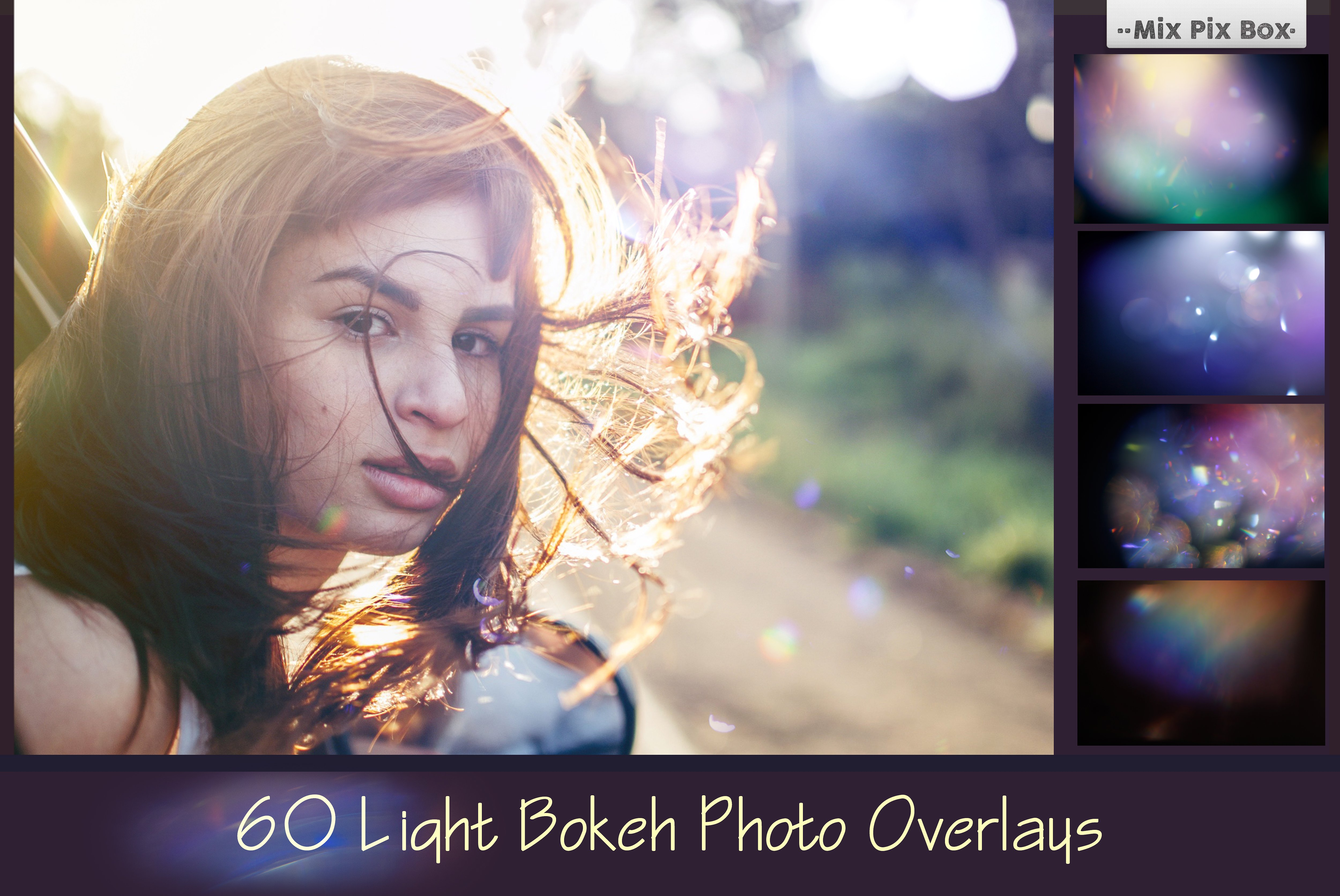 60 Sunlight Bokehs Overlays