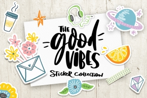 Good Vibes Sticker Illustrations Collection