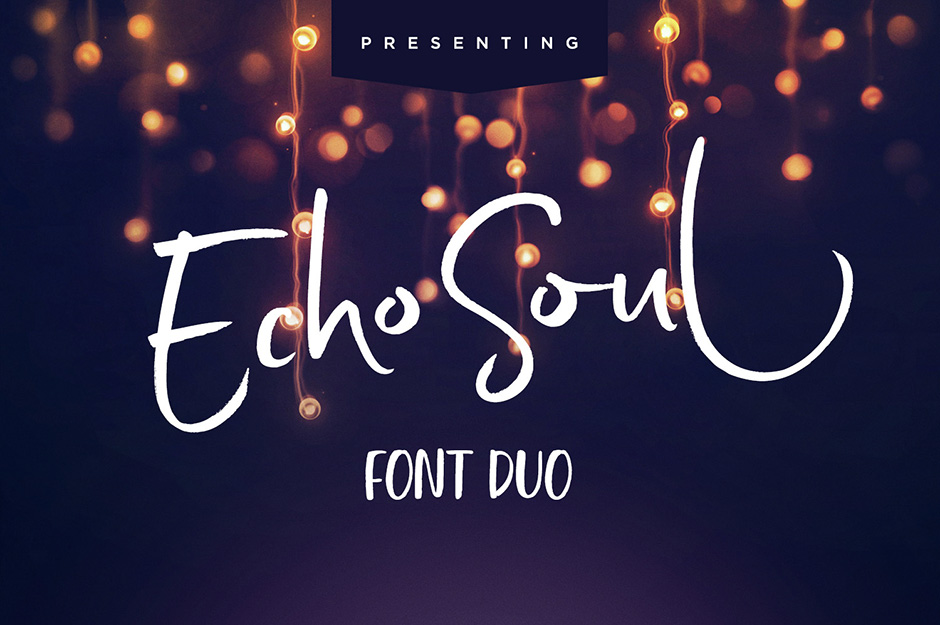 Echo Soul Brush Font Duo