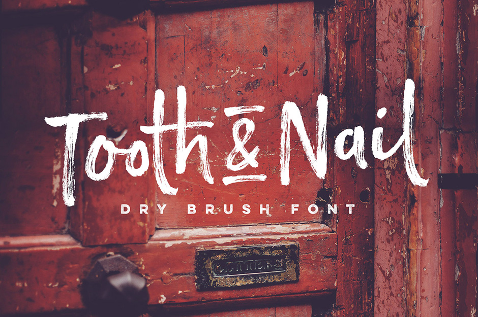 Tooth & Nail dry brush font | fonts like paint