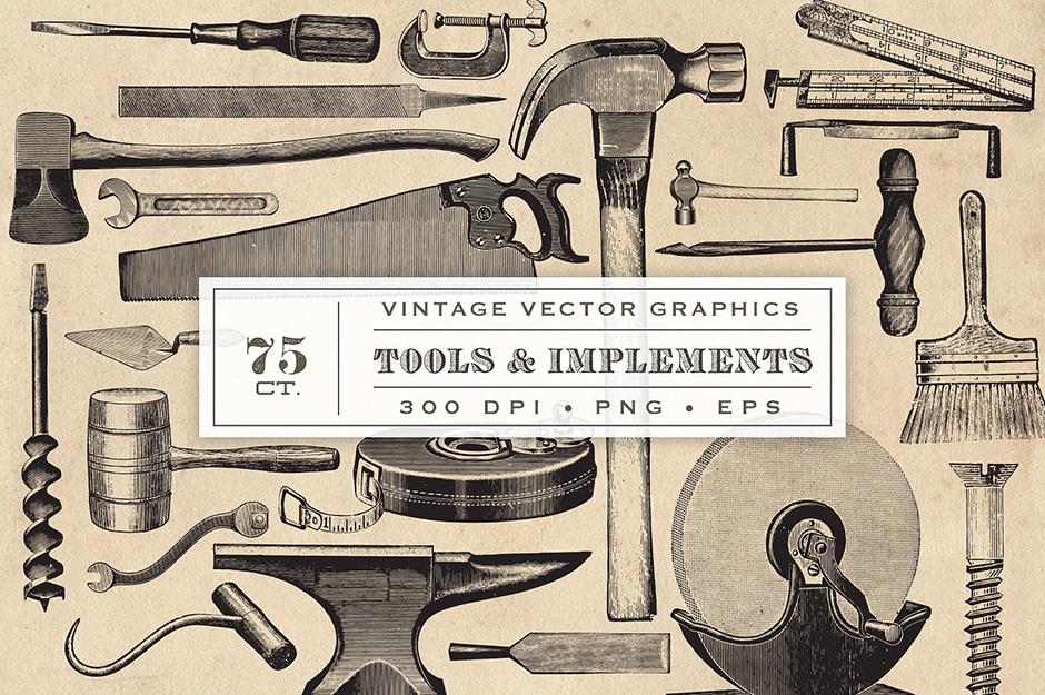Vintage Tool & Implement Graphics