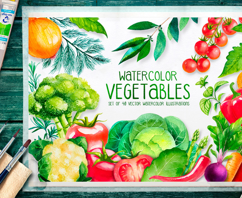 watercolour-vegetables-top-image