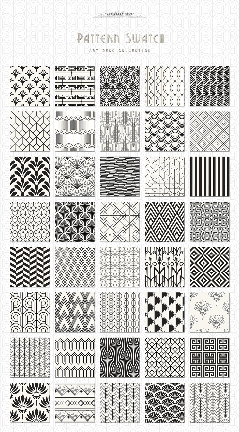 Line Pattern Design : The ultimate s art deco patterns bundle to create