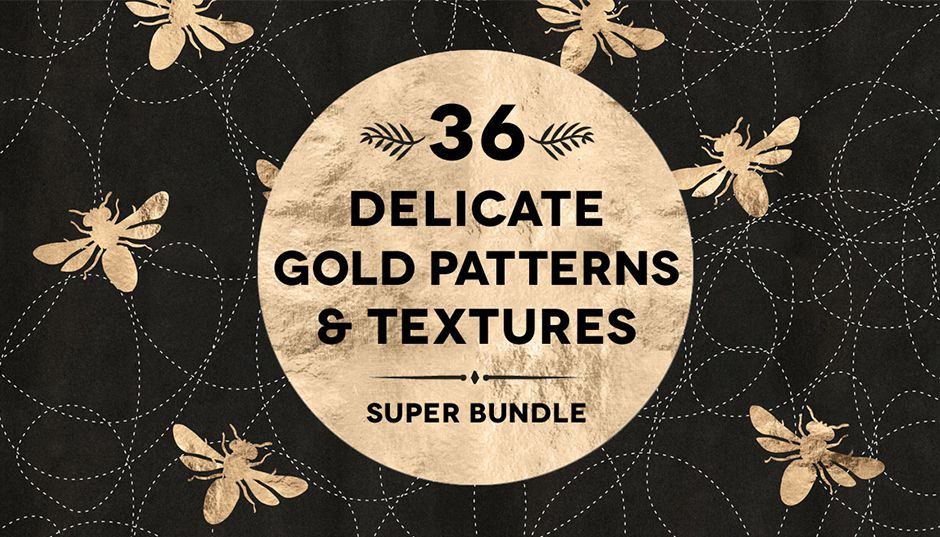 36 Delicate Gold Patterns & Textures