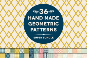 36 Handmade Geometry Patterns Bundle