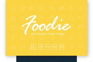 Foodie Hand Drawn Food Icons