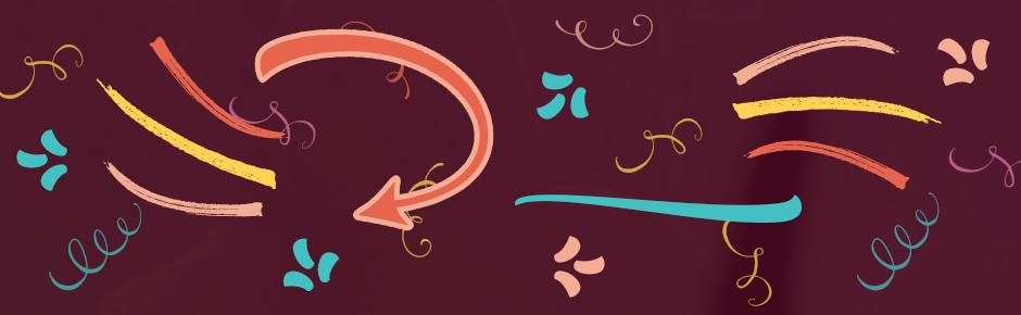 Decorative Flourishes, Swirls and Arrows