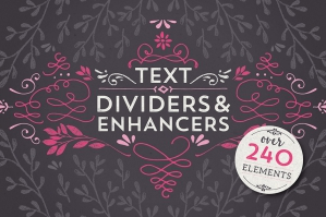 Text Dividers & Enhancers