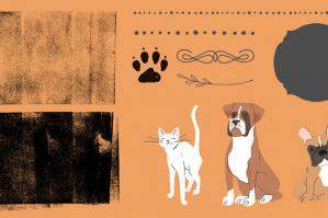Borders, Shapes, Dividers, Illustrated Pets, Textures and Patterns