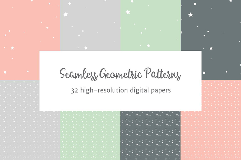 Seamless Pastel Geometric Patterns 2-