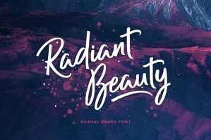 Radiant Beauty Casual Brush Font