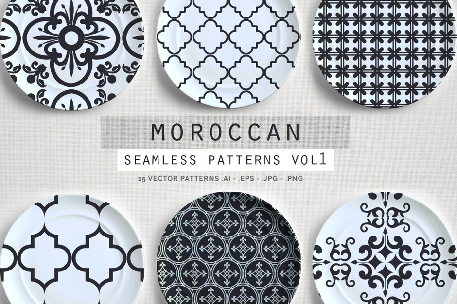 Seamless Moroccan Patterns Vol. 1