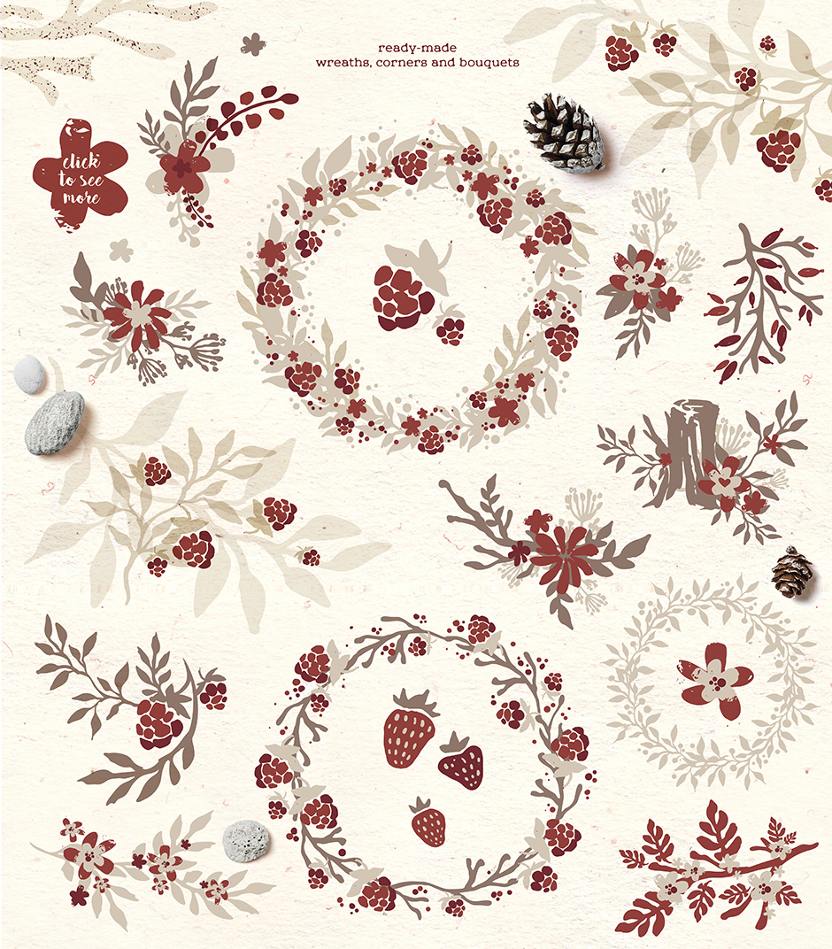 Nordica Rustic Illustrations Collection