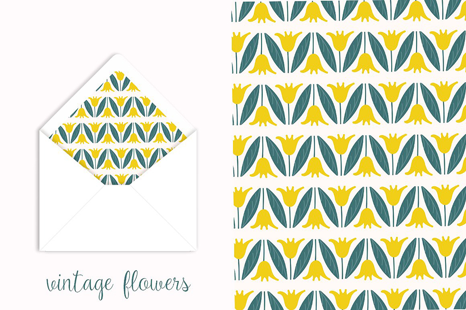 Vintage Florals Pattern Collection