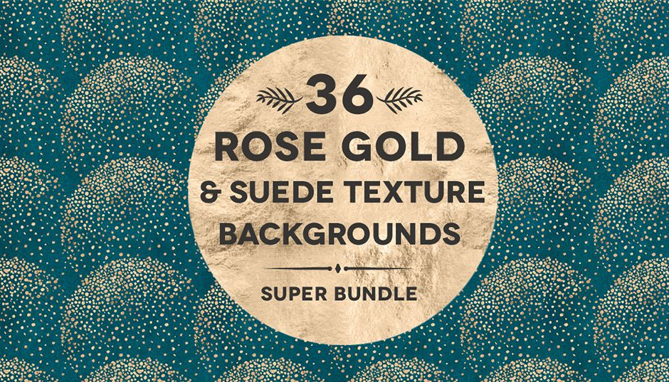 36 Suede Gold Textured Patterns