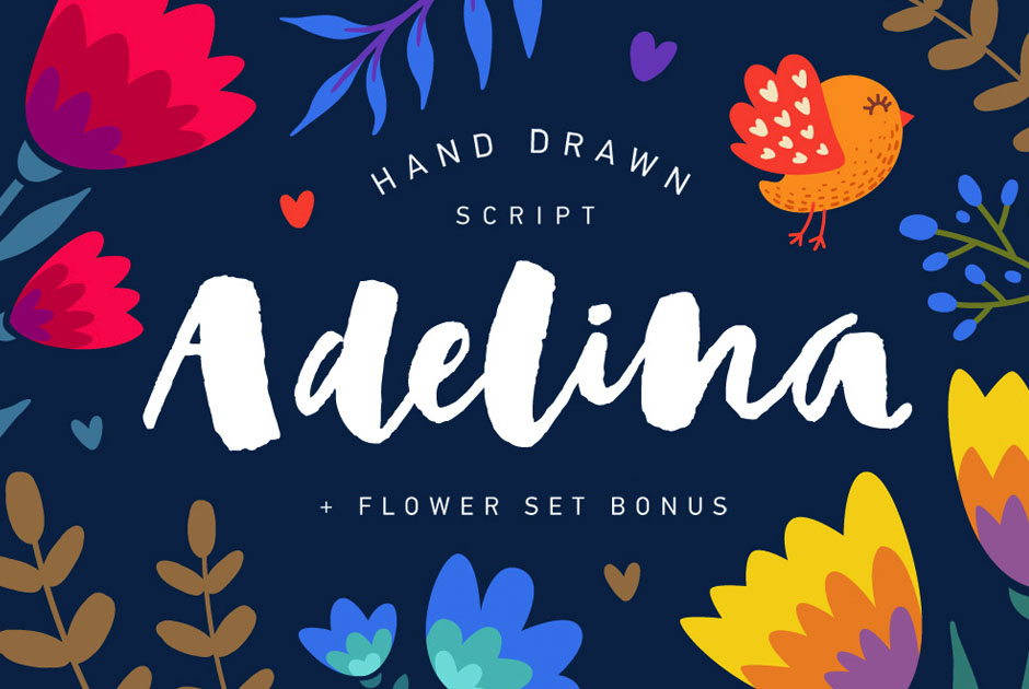 Adelina Script & Flower Set Bonus-first-image