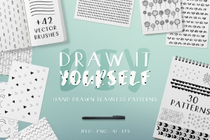 Draw It Yourself - Hand Drawn Seamless Patterns