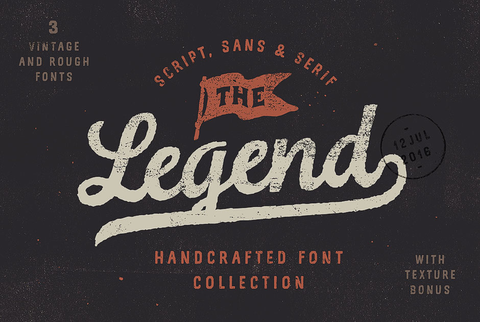 Legend Font Collection & Textures-first-image