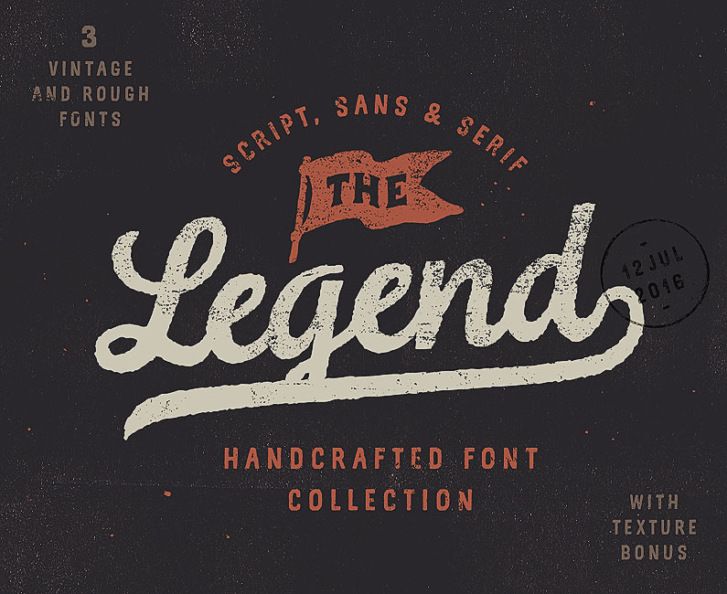 Legend Font Collection & Textures-top-image