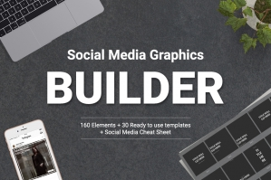 Social Media Mockups Graphics Builder