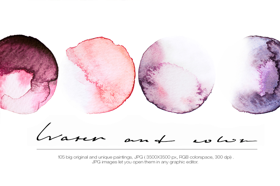 Watercolor Textures Bundle