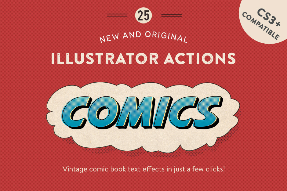 Vintage Comic Press AI Actions