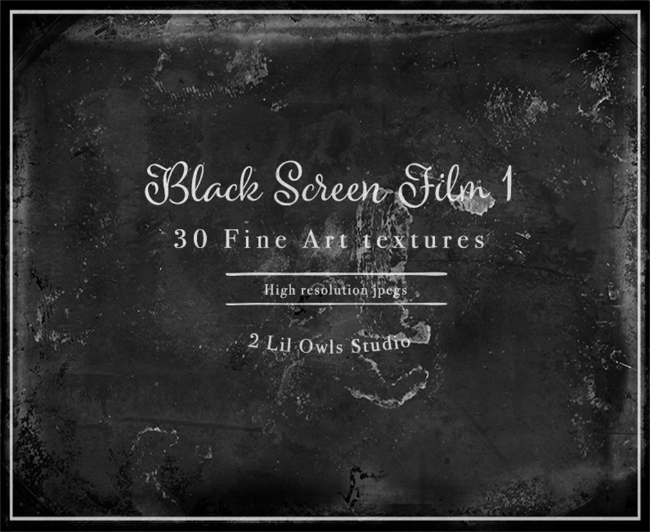Black Screen 1 Fine Art Film Textures