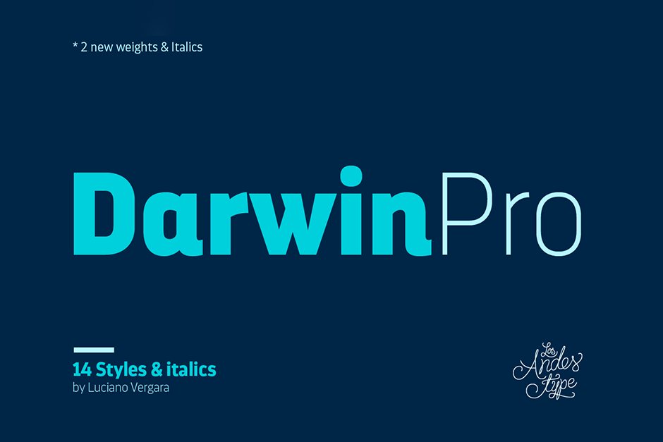 Darwin Pro Contemporary Font