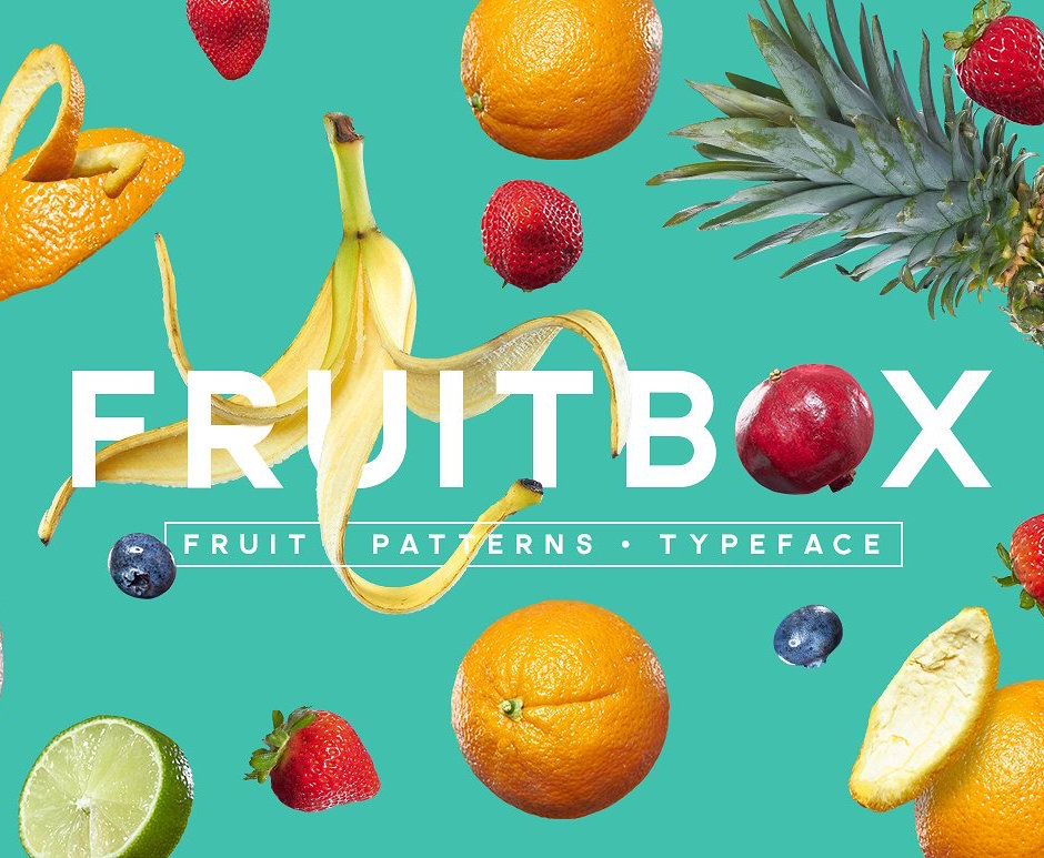 FruitBox Font, Patterns & Fruit