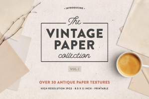 The Vintage Paper Textures Collection Vol. 1