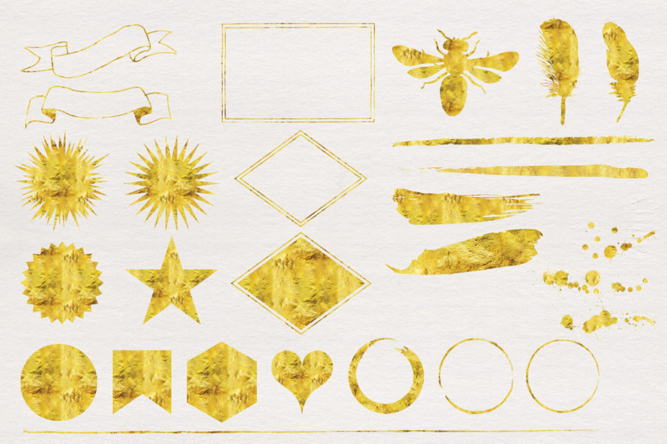 25 Gold Foil Graphics