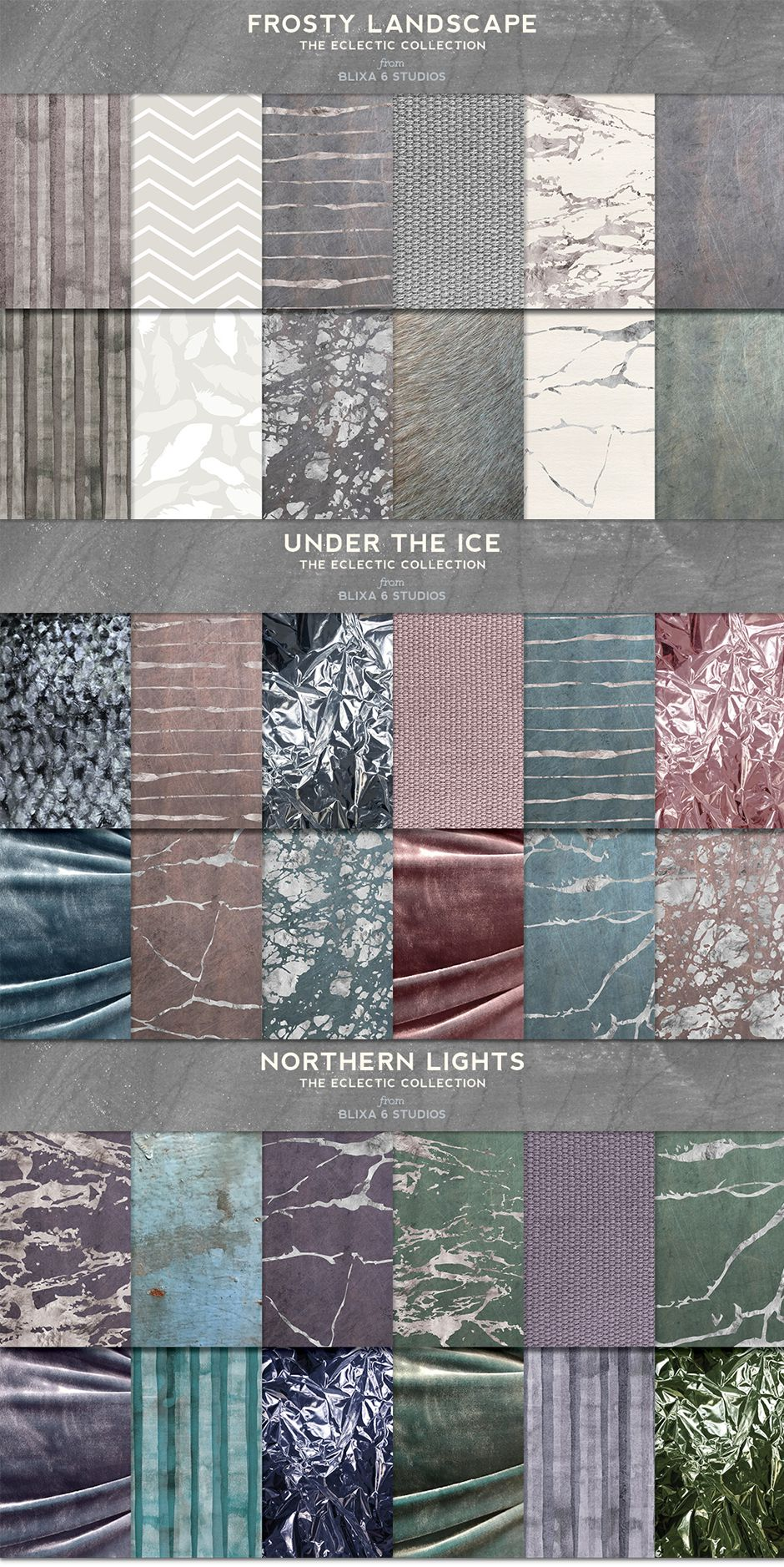 36 Arctic Silver Textures