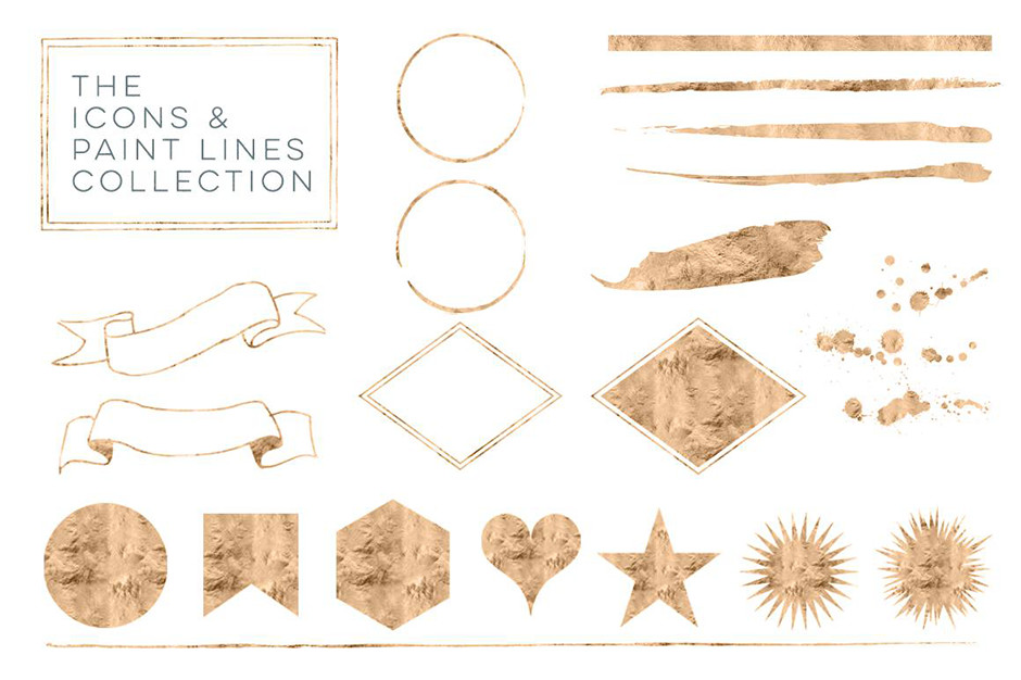 35 Rose Gold Icons