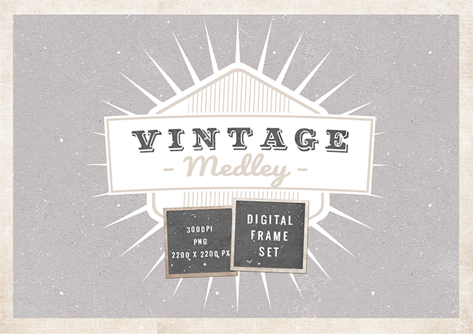 Give Your Work A Vintage Touch With These Digital Frames Design Cuts