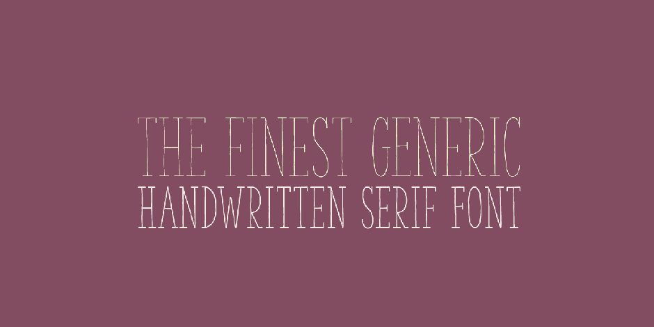 The Serif Handwritten Font Pack