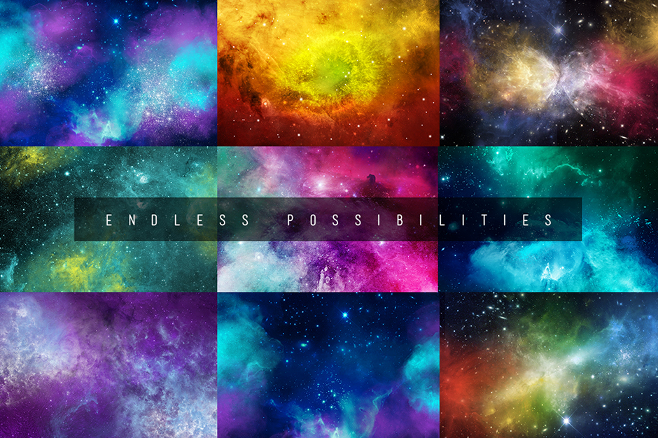 Stargazer Galaxy Photoshop Brushes Set