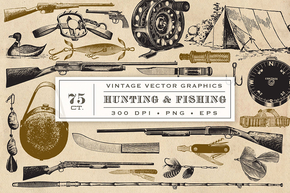 Hunting & Fishing Graphics