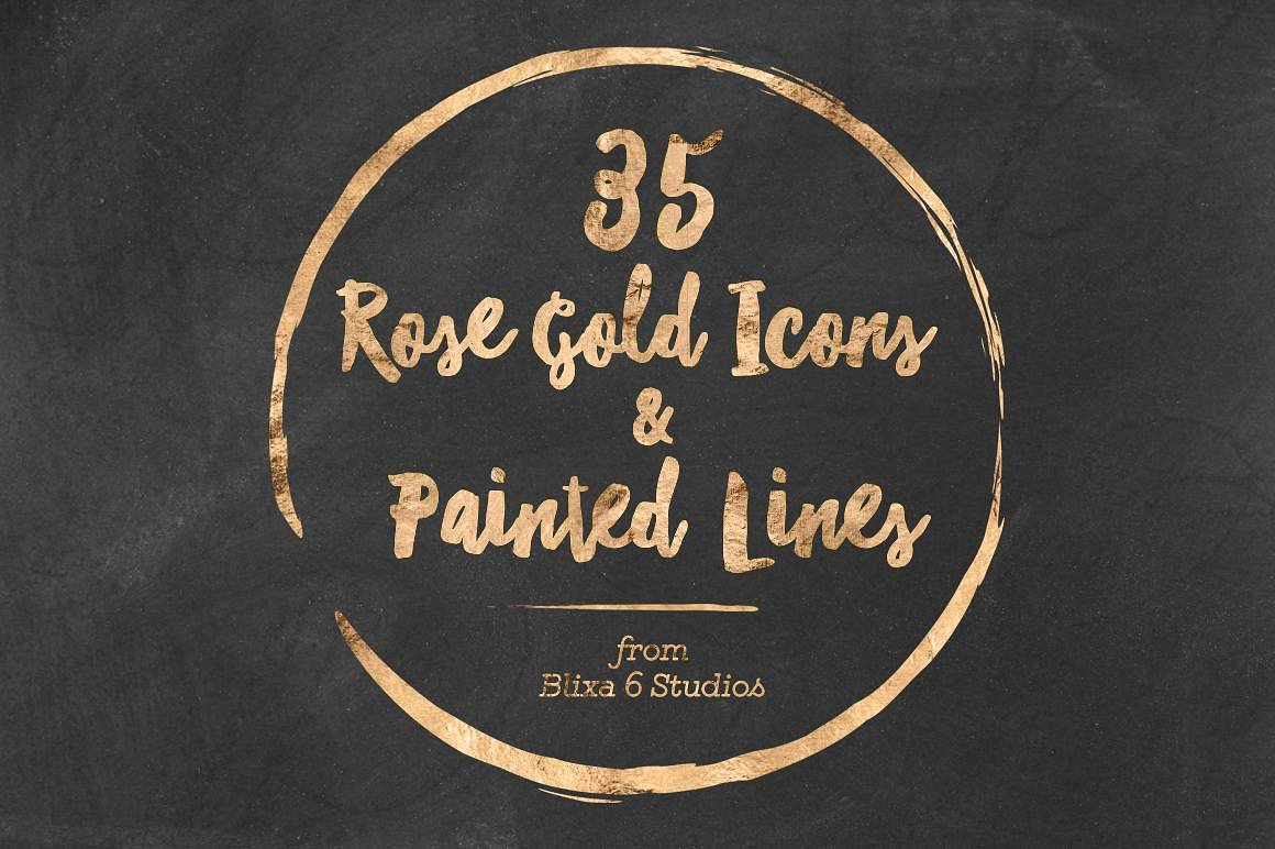 Add Some Gorgeous Shimmer To Your Work With This Rose Gold Icons Pack