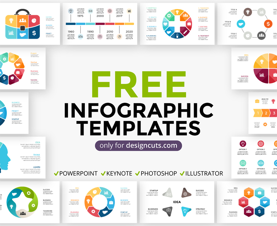an incredibly useful infographics pack sample just for you