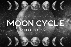 Moon Cycle Photoshop Set